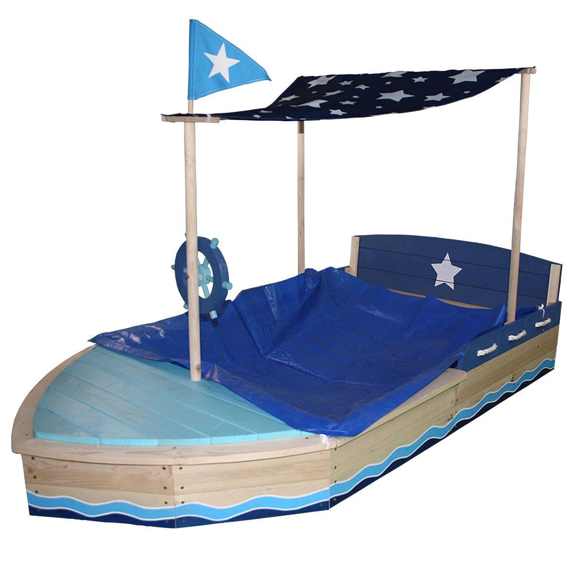 Sun Sandkasten Sternen-Schiff aus Holz: Amazon.de: Spielzeug