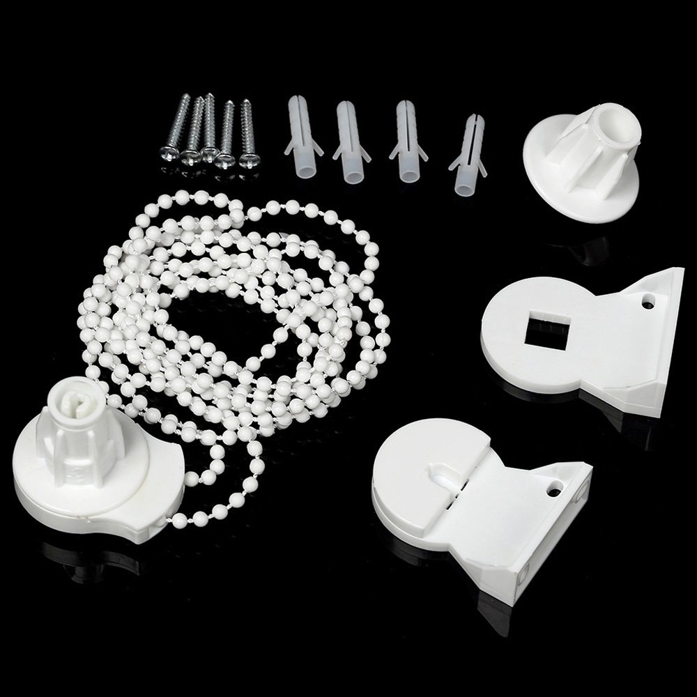 Newsoul 25mm Roller Blind Fitting Repair Kit, Brackets and Chain Roller Blind Curtain Fitting Brackets Set Window Treatments
