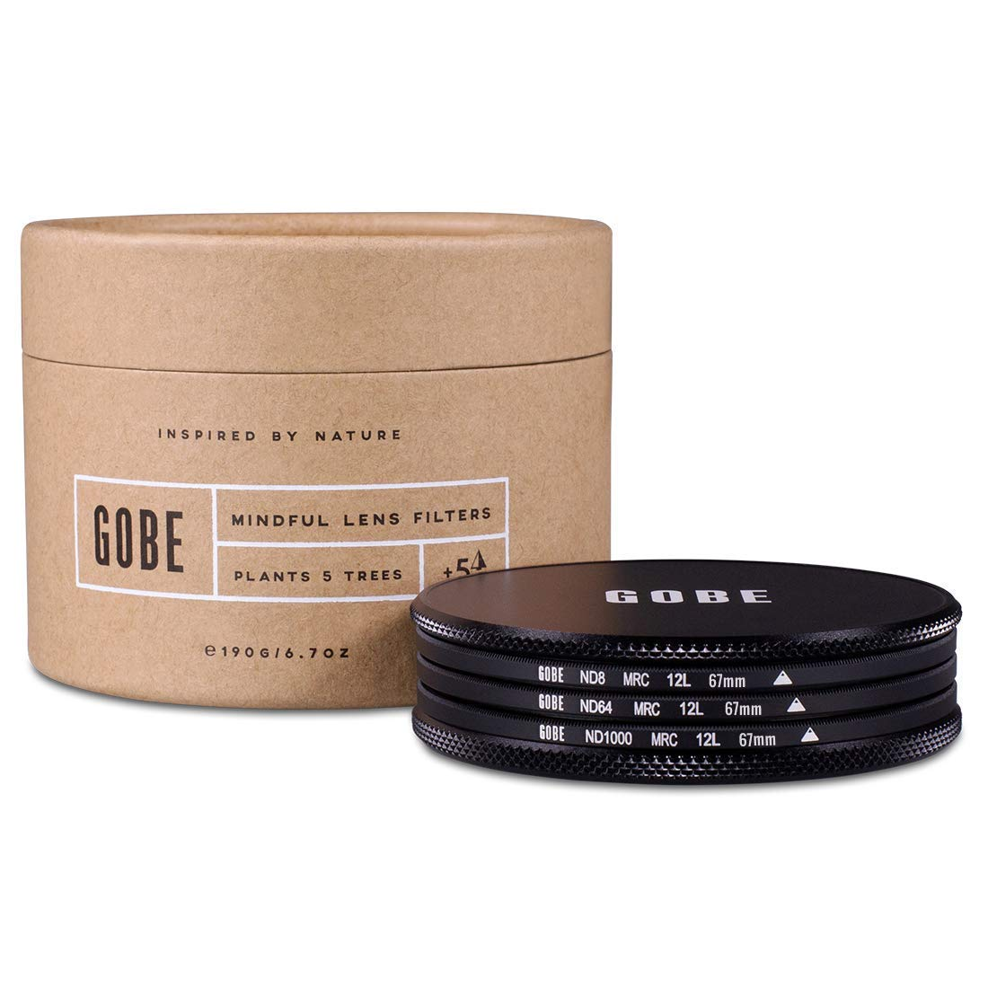 Gobe ND Filter Kit 67mm MRC 12-Layer: ND8, ND64, ND1000 by Gobe