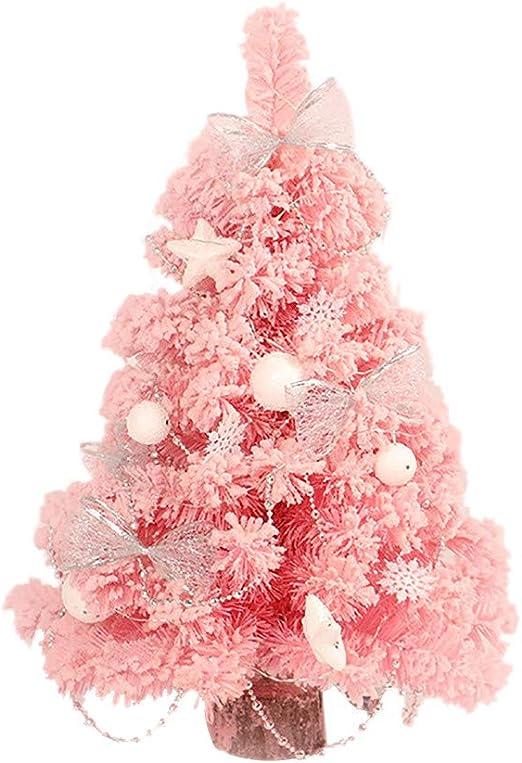 12 Rosa Y Plateado Mini Bolas Árbol De Navidad Decoración Navidad Festivo Ornamento