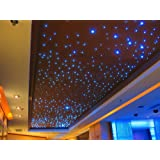CHINLY 32W RGB 4-Speed Twinkle LED Fiber Optic Star Ceiling Kit Light Lamp 800 Strands 13.1ft Long 0.75mm +28key RF Remote