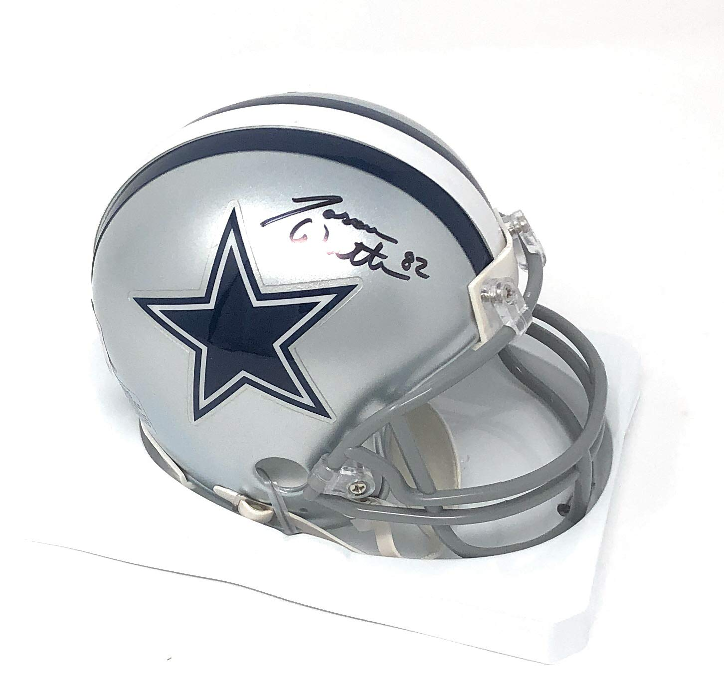 Jason Witten Dallas Cowboys Signed Autograph Mini Helmet Witten 82 Player Hologram