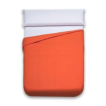 Sancarlos - Funda nórdica lisa, 100% Algodón, Color naranja, Cama de 135 cm: Amazon.es: Hogar