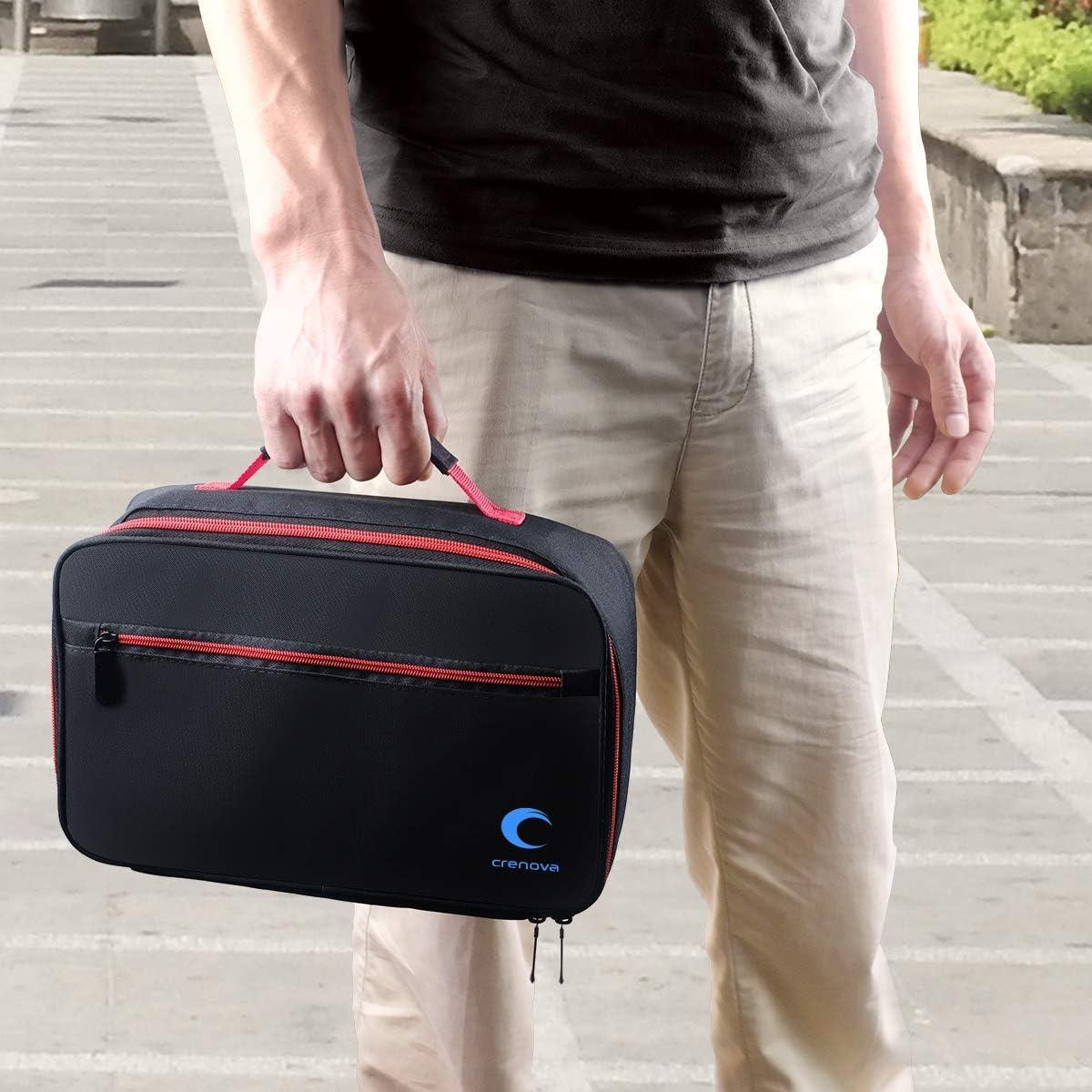 Beamertasche,Tragbare Tasche f/ür Crenova XPE500 Mini Beamer und Zubeh/ör,schwarz,30x20x9.5cm,Passend f/ür die meisten kleinen Beamer