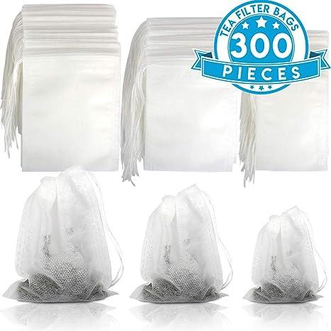 Amazon.com: Bolsas de té para té suelto, YGDZ 300 bolsas ...