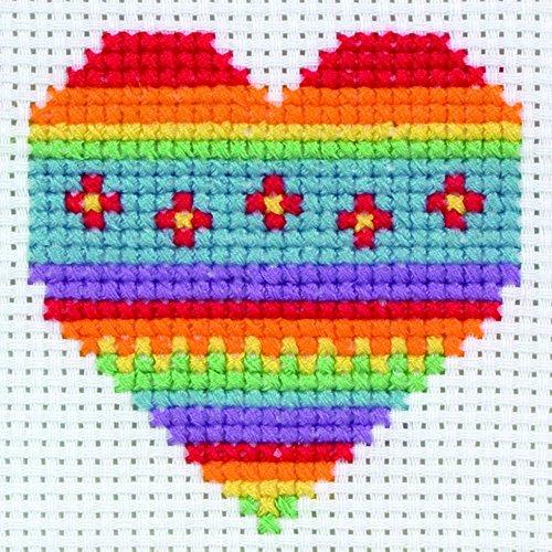 Anchor 1st Cross Stitch Kit For Children & Beginners Heart