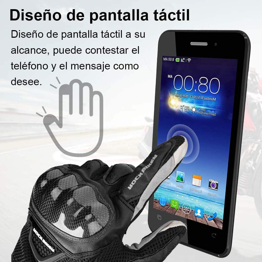 Guantes Moto Tranpirable Entretiempo Guantes con Protecci/ón Guantes Moto Verano Anti-Deslizante Pantalla T/áctil Proteccion Gloves Racing Moto