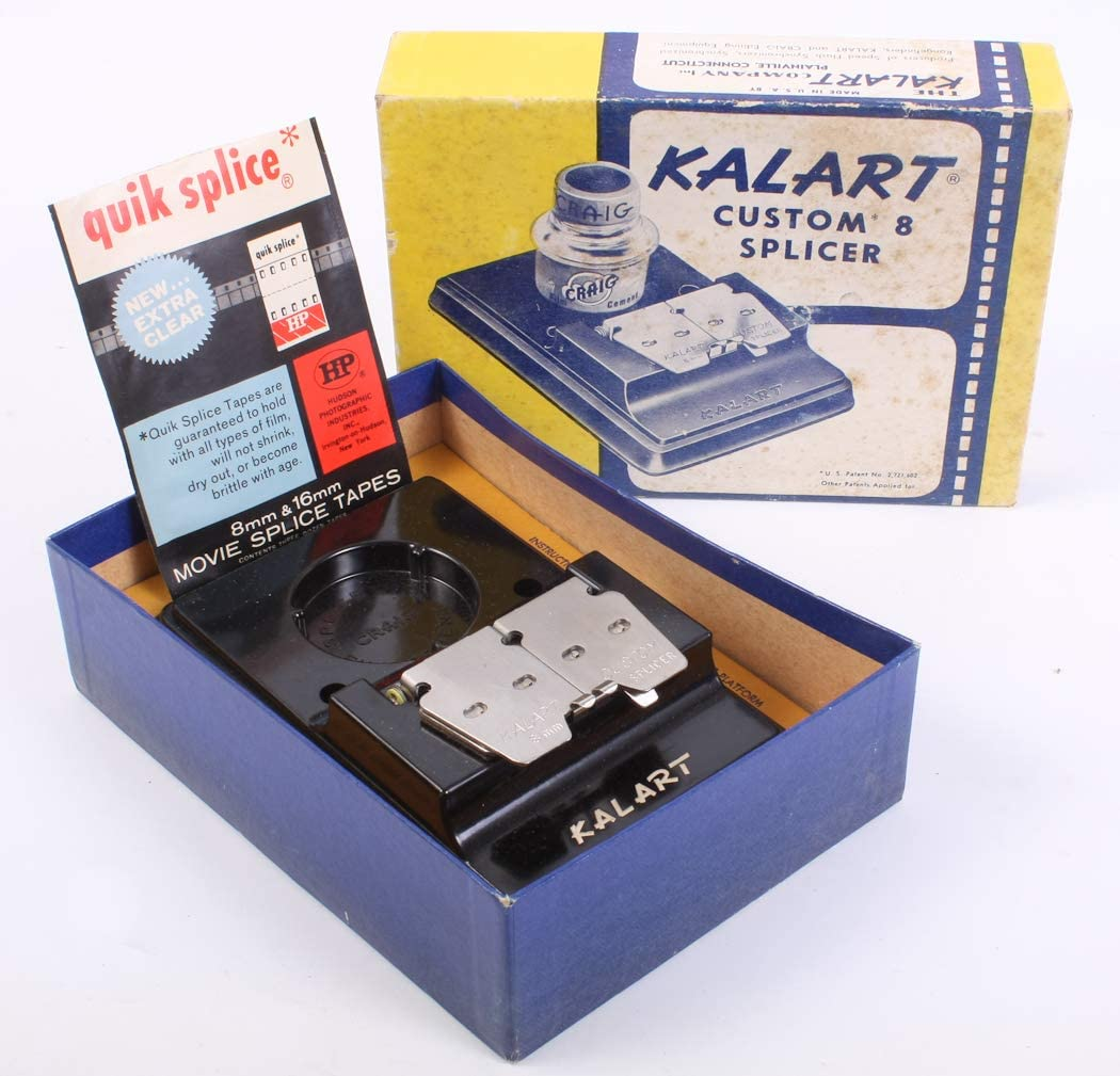 Super 8MM and 16MM with Tape Movie FILM SPLICER Dual 8MM