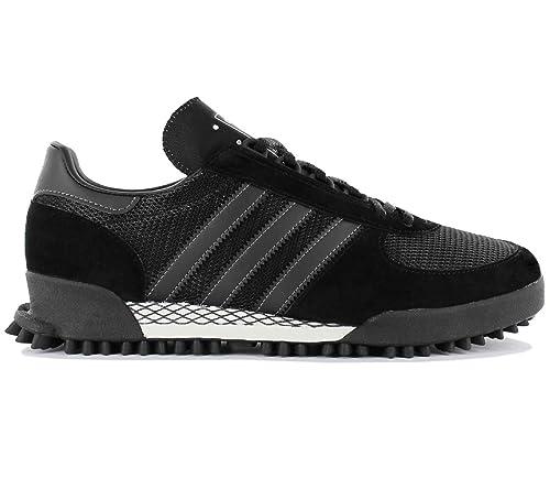 best service 1ea51 e1581 adidas Originals Marathon TR Uomo Calzature Nero Scarpe da Uomo Sneaker  Top Amazon.it Scarpe e borse