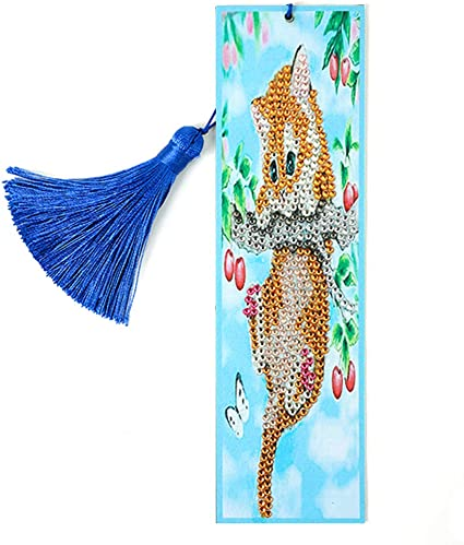 WANGFUFU Beaded Bookmarks with 5D Diamond Painting Christmas Gifts Special Shaped Diamond