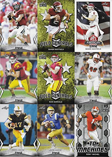 2018 LEAF NFL DRAFT Football Series Complete Mint 99 Card Master Set with Inserts including Multiple Cards of the Top Prospects Baker Mayfield, Sam Darnold, Josh Allen and many ()