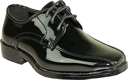 1e92b6abcb7 Image Unavailable. Image not available for. Color  VANGELO Boy Tuxedo Shoe  TUX-5K Square Toe ...