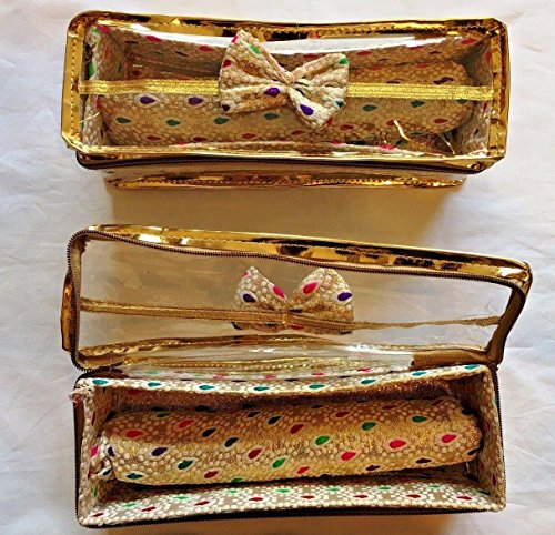 Bangle Storage Box for Travel Holder Indian Jewelry Bracelet Watch Case - White with Multi (5)