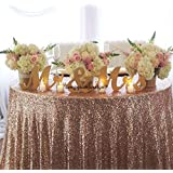 GOLD Mr. & Mrs. letters wedding table decoration, freestanding GOLD Mr and Mrs signs for sweetheart table (16cm)