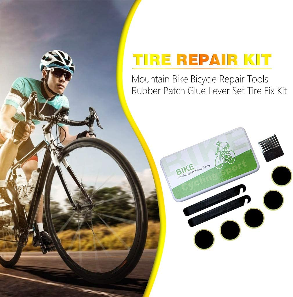 MTB Bicycle Repair Glue Emergency Tire Fix Kit Bike Tire Patch Rubber Patches