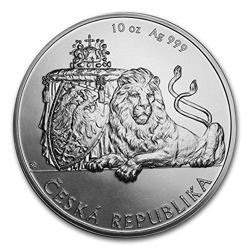 2018 CZ Niue 10 oz Silver Czech Lion BU Silver Brilliant (Silver Czech Coin)