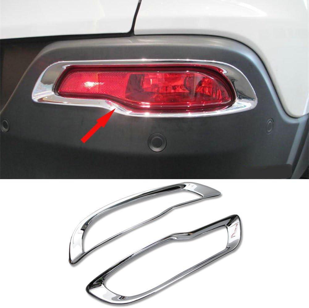 2pcs ABS Rear Bumper Fog Light Lamp Cover Trim Frame For Jeep Cherokee 2014-2016