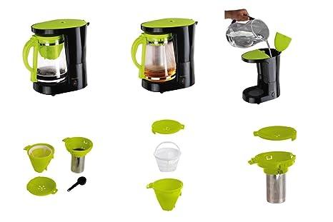 2 in1 máquina de café y té eléctrica con jarra de cristal (1,2