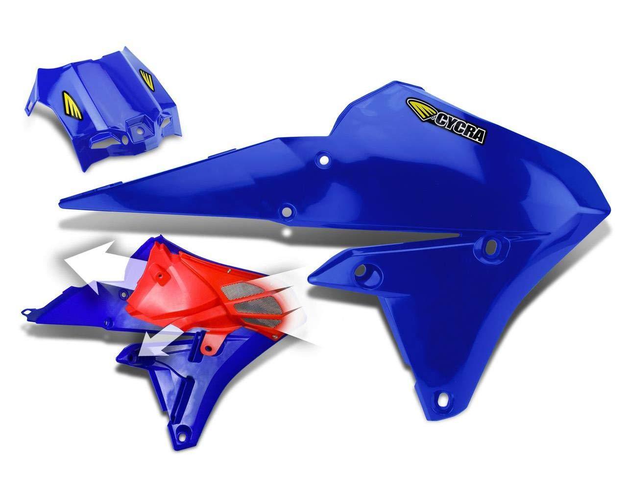 Cycra 1CYC-1782-62 Powerflow Intake Radiator Shroud with Intake Screen Blue