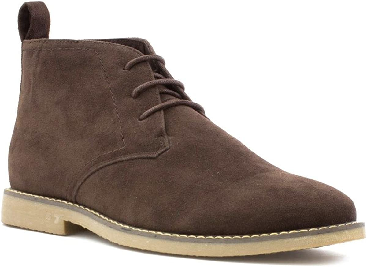 Hobos Mens Suede Effect Brown Lace-Up