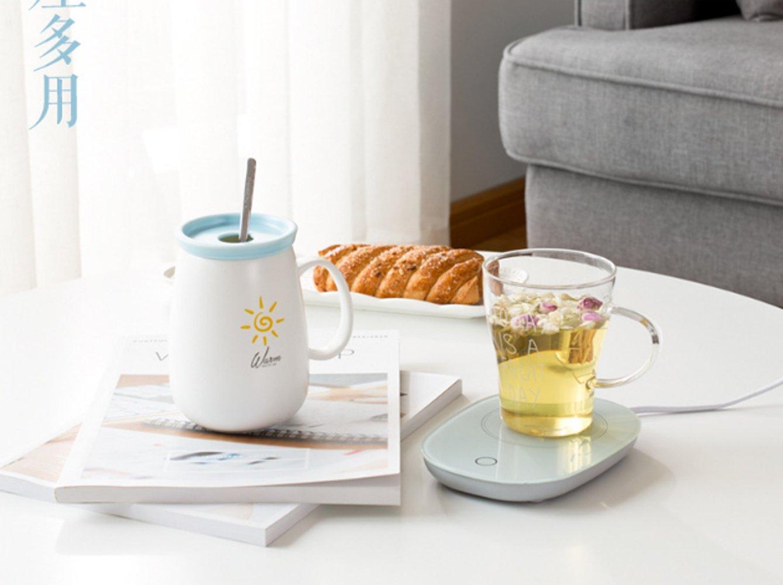 Amazon.com: Taza calentadora, calentador de café con apagado ...