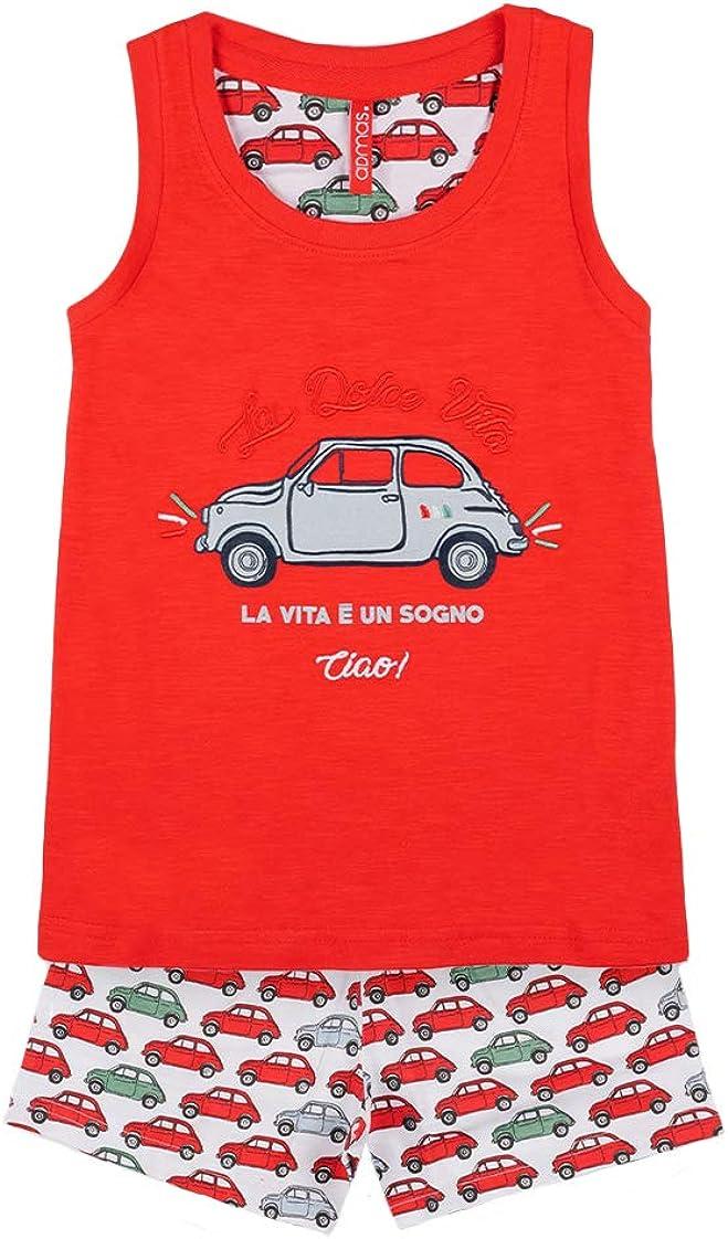 Admas Pyjama d/ébardeur et Short Chica La Vita Rouge 14 Ans