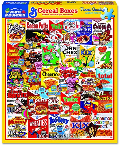 (White Mountain Puzzles Cereal Boxes - 1000 Piece Jigsaw Puzzle)