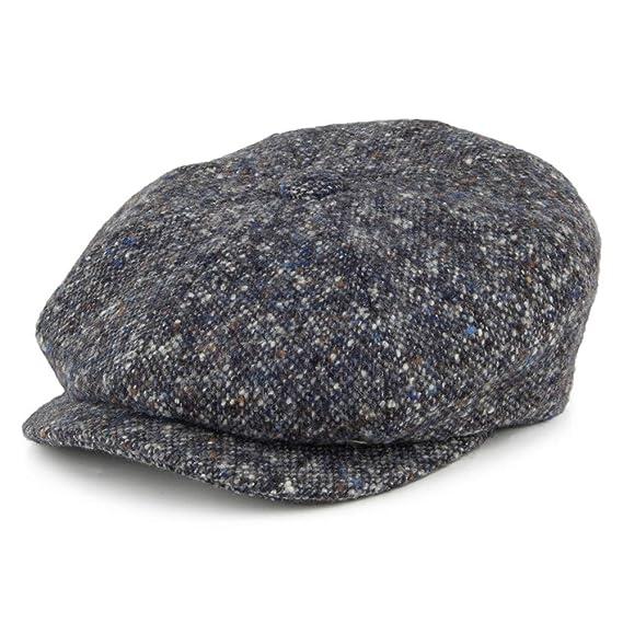 City Sports Hats Donegal Tweed Marl II Newsboy Cap - Blue-Grey Small ... e80a3928136