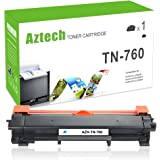 (No Chip) Aztech 1 PK Compatible for Brother TN-760 TN760 TN730 Toner Cartridge for Brother HL-l2390dw HL-l2395dw DCPl2550dw MFC-l2750dw MFCl2710dw HL-l2350dw HL-L2370DWXL MFC-L2750DWXL Printer