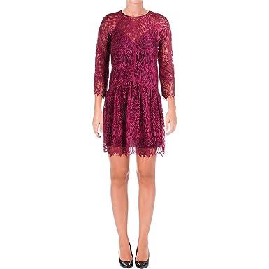 92d80a353074 Amazon.com  Juicy Couture Black Label Womens Lace Mini Casual Dress ...