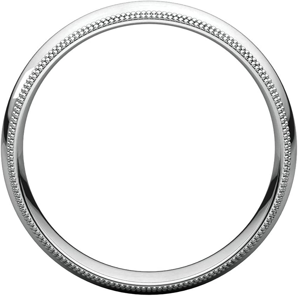 Jewels By Lux Continuum 925 Sterling Silver 5mm Double Milgrain Comfort Fit Mens Wedding Ring Band