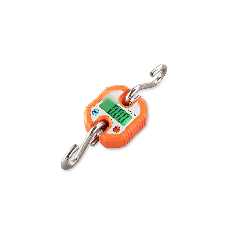 Electronic Portable Mini Digital Scale 150Kg/331Lb Lcd Display Luggage Heavy Crane Hook Scale,Orange