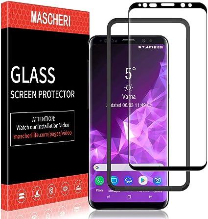 MASCHERI Protector de Pantalla para Samsung Galaxy S9, [3D ...