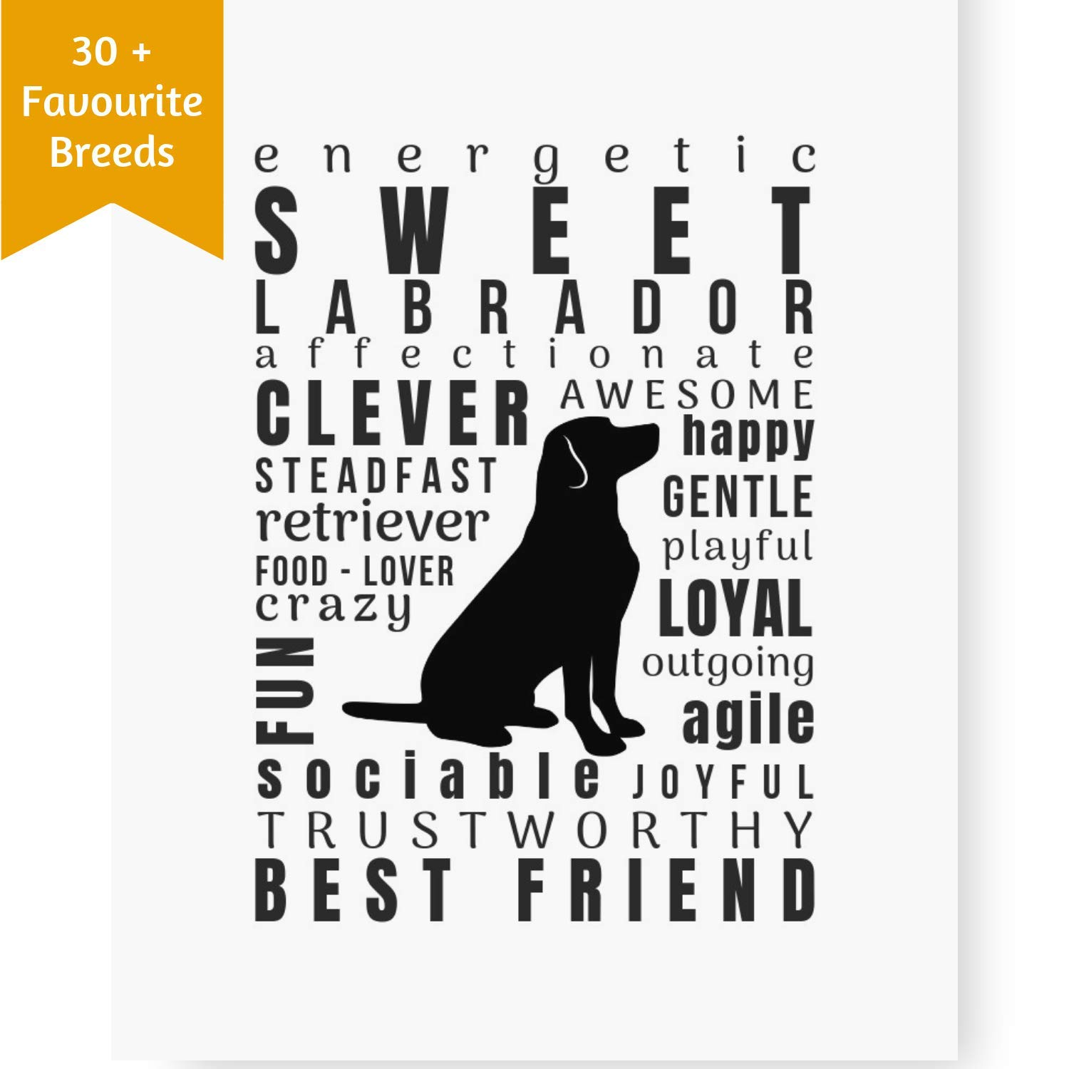 Dog Lover Gifts for Women - Labrador Art Wall Decor Quotes Breed Prints  (8.5x11 Unframed) Perfect Pet Memorial, New Puppy or Birthday Gift for Dog  Mom