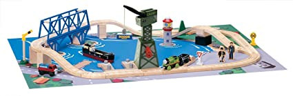 Thomas Friends Wooden Railway Down By The Docks Set