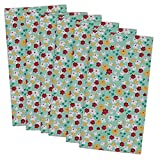DII 100% Cotton, Machine Washable, Oversized Basic Everyday 20x20'' Napkin Set of 6, Blossom Print