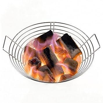 Dracarys Accesorios para barbacoa de alta eficiencia Cesta de ceniza de carbón de leña de acero