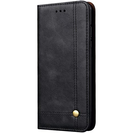 best authentic 63306 ea98d Pirum Magnetic Flip Cover for Samsung Galaxy A8 Plus Leather Case Wallet  Slim Book Cover with Card Slots Cash Pocket Stand Holder - Black
