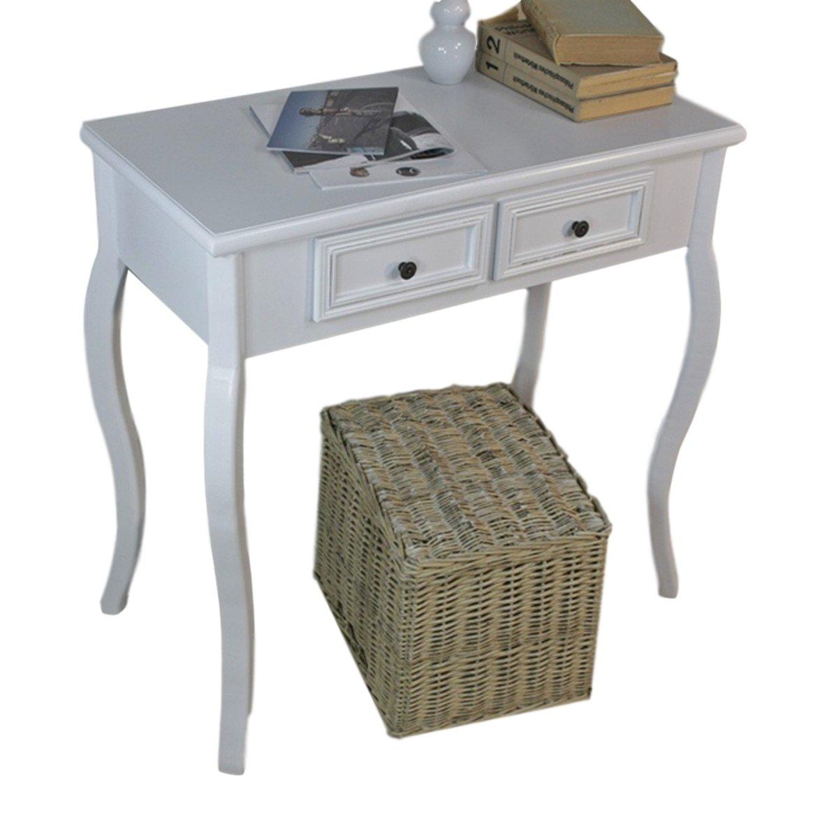 Elbmöbel Konsolentisch Holz Tisch Schubladen weiß Landhaus Anrichte Beistelltisch antik