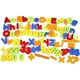 Cido 磁気 キッズ・キッズ アルファベット文字 数学の数 マグネット 冷蔵庫 80個