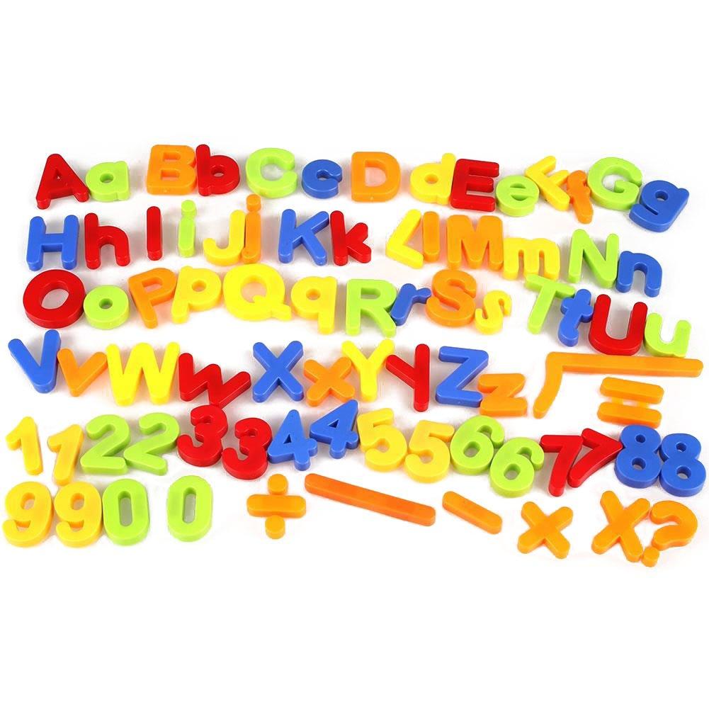 Cido Enfants Enfants Magnétique Lettre d'alphabet Numéro de Mathématiques Frigo Aimants 80Pcs