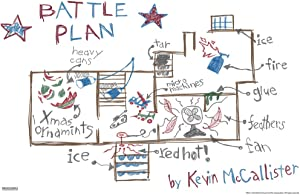 Pyramid America Home Alone Battle Plan Diagram Drawing Funny Christmas Movie Kevin McAllister Wet Bandits Holiday Film Cool Wall Decor Art Print Poster 12x18