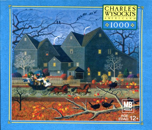 Charles Wysocki's American 1,000 Piece Jigsaw Puzzle ~ Hellraisers on Halloween Night 04679-R30