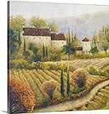 kitchen italian wall art - Michael Marcon Premium Thick-Wrap Canvas Wall Art Print entitled Tuscany Vineyard I 24