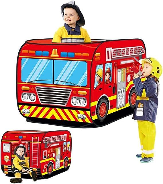 Haehne Niños Juegan Tiendas de Campaña, Surgir Interior Al aire libre Casa de juegos Juguete Choza Fácil doblar, Camion de bomberos Coche Diseño: Amazon.es: Juguetes y juegos