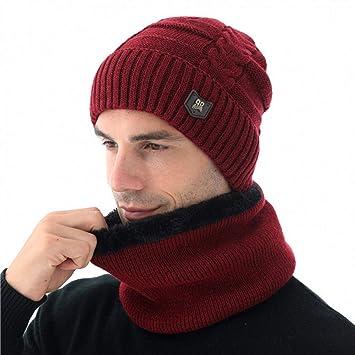 XJDMG Sombrero de Punto Wool Hat Gorra Gorro De Invierno para ...