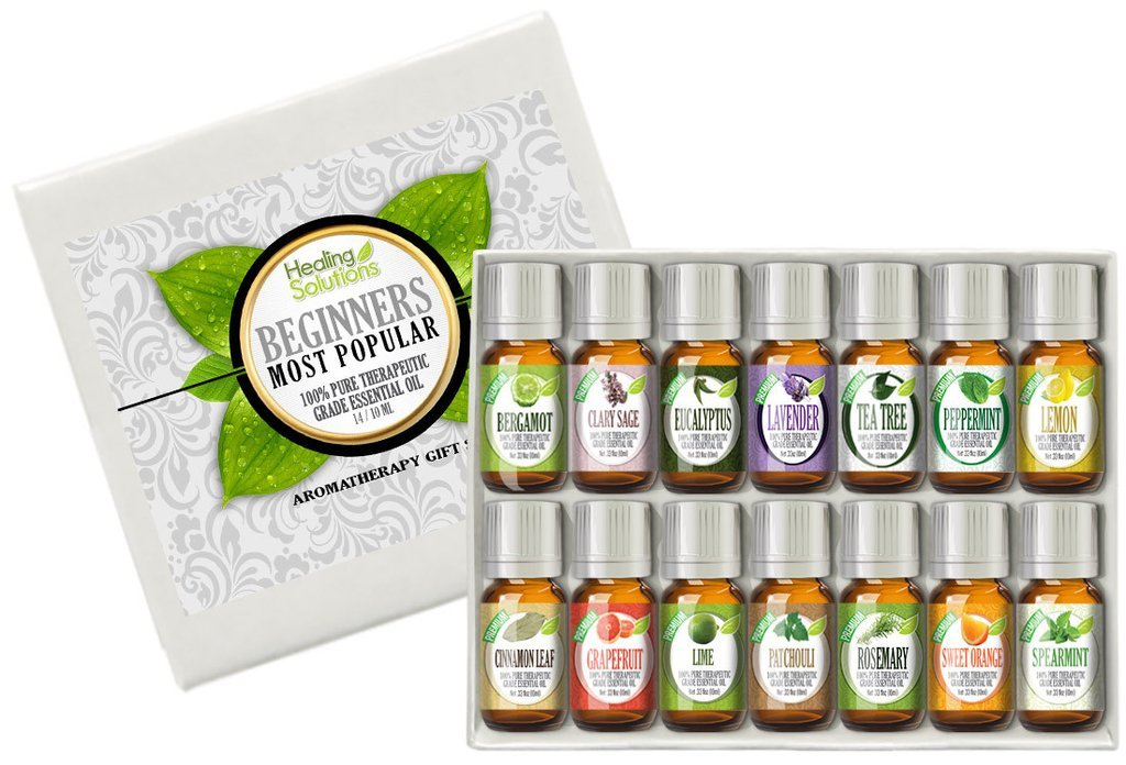 Healing Solutions Beginners Aromatherapy Essential Oil Kit (Pack of 14) by Healing Solutions