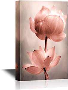 wall26 Canvas Wall Art - Lotus Flowers - Gallery Wrap Modern Home Decor | Ready to Hang - 16x24 inches