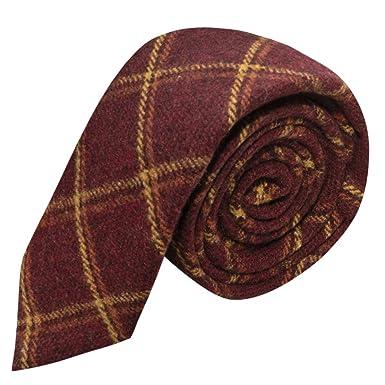 Corbata Estilo Tradicional Color Rojo Cálido Con Una Tela Premium ...