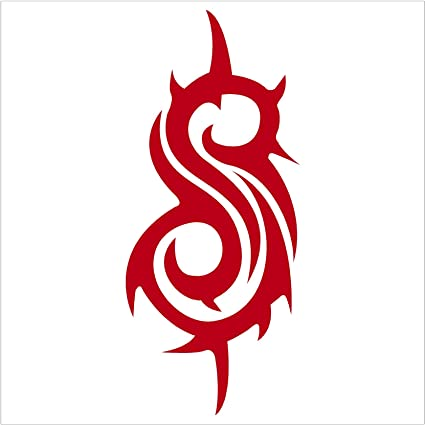 amazon com slipknot band logo red decal car truck window red